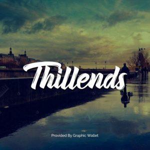 دانلود رایگان فونت انگلیسی Thillends