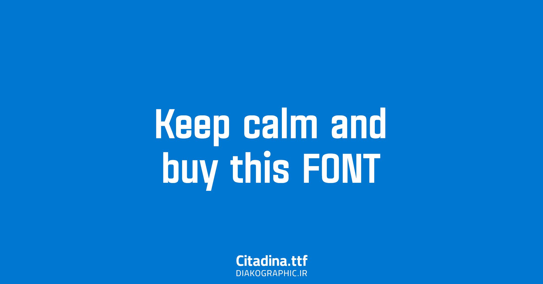فونت انگلیسی حرفه ای Citadina English