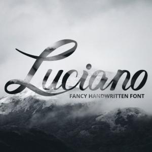 دانلود رایگان فونت انگلیسی Luciano