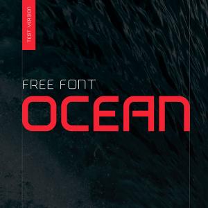 دانلود رایگان فونت انگلیسی Ocean