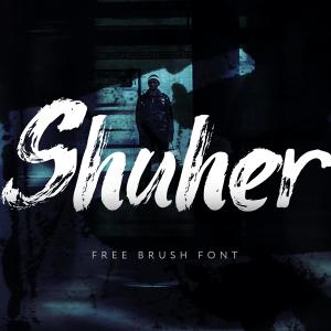 دانلود فونت انگلیسی براش Shuher Font