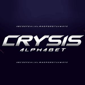 دانلود فونت انگلیسی لایه باز Crysis