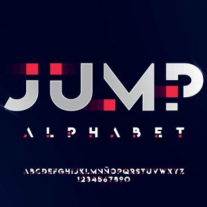 دانلود فونت تایپوگرافی انگلیسی Jump