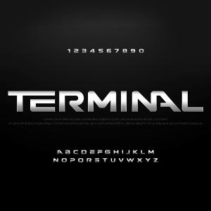 دانلود فونت انگلیسی لایه باز Terminal