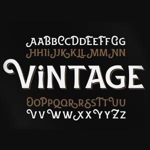 دانلود فونت تایپوگرافی انگلیسی VintageFont