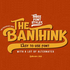 دانلود فونت انگلیسی The Banthink