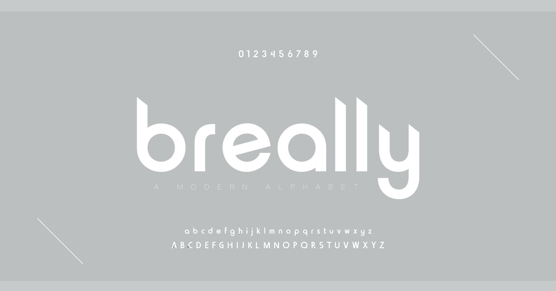دانلود فونت تایپوگرافی انگلیسی Breally