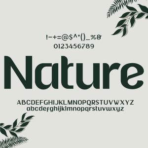 دانلود فونت انگلیسی Nature Font