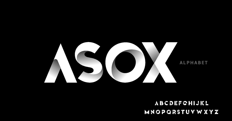 دانلود فونت تایپوگرافی انگلیسی Asox