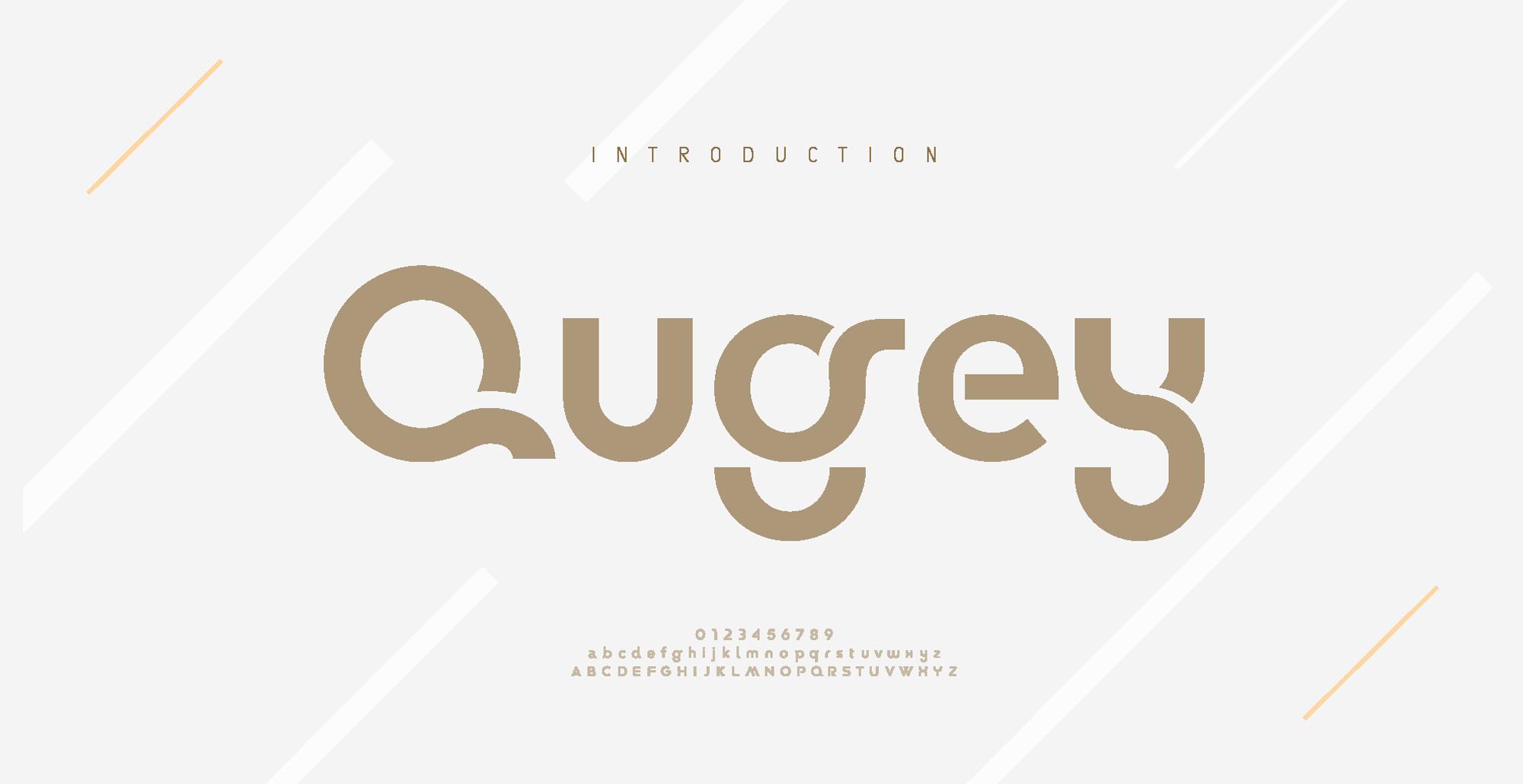 دانلود فونت تایپوگرافی انگلیسی Qugey