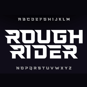 دانلود فونت تایپوگرافی انگلیسی Rough Font
