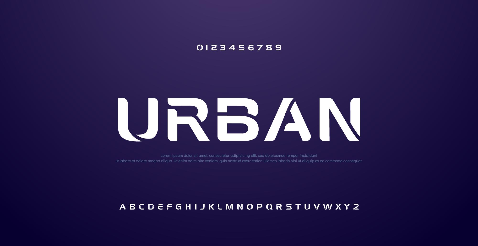 دانلود فونت تایپوگرافی انگلیسی Urban