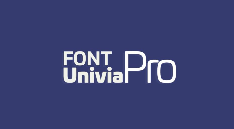 دانلود فونت تایپوگرافی انگلیسی Univia