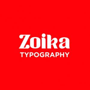 دانلود فونت تایپوگرافی انگلیسی Zoika
