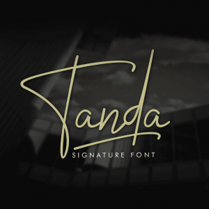 دانلود فونت دستنویس انگلیسی Tanda