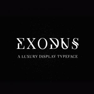 دانلود فونت انگلیسی Exodus Font